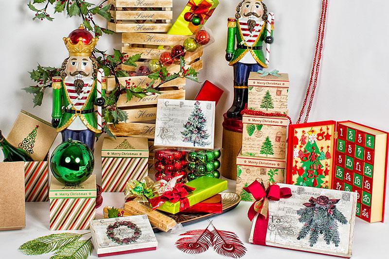 cajas, espacaratismo, papeles, packaging para regalos de navidad