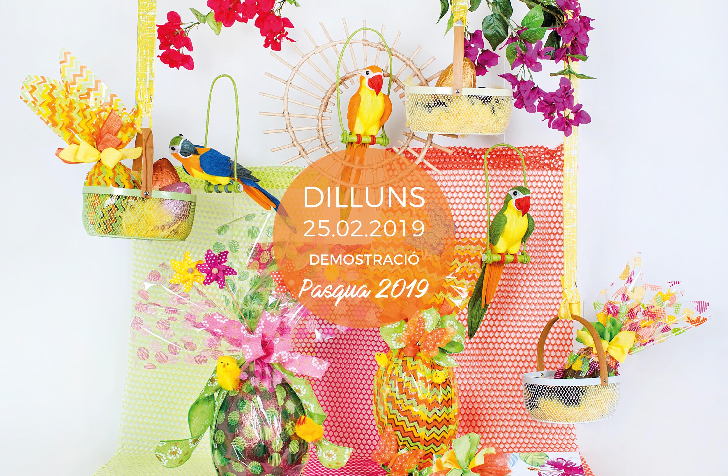 demostracio de creacio de packaging per pascua i primavera