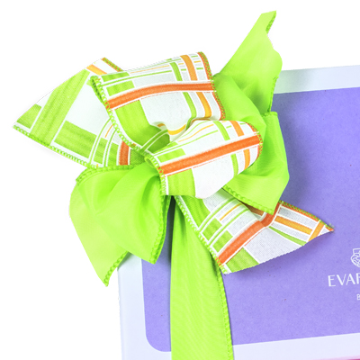 custom packaging papers and ties ribbon