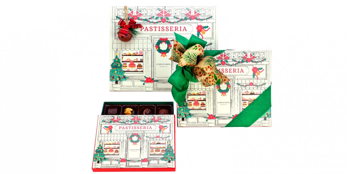 evaristo riera custom packagings for Christmas boxes chocolates pastry